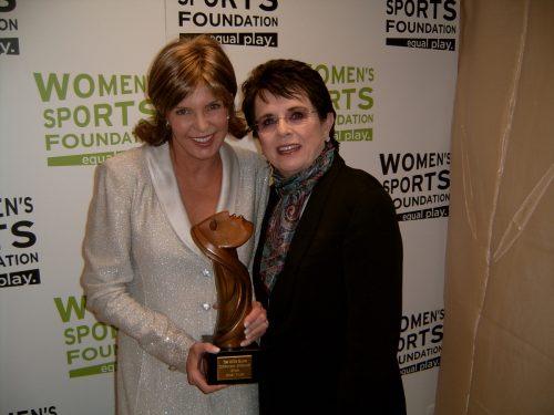 Lesley Visser and Billie Jean King
