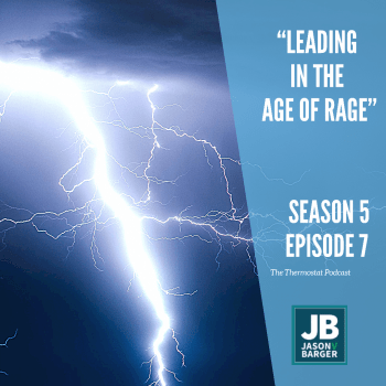 A lightning bolt signifies rage as this episode's title is Leadership in the age of rage. Zeus and the ancient gods used lightning bolts to signify the power and rage of the gods long ago.